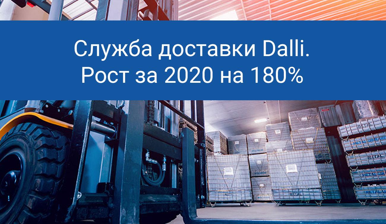 Итоги 2020 года, служба доставки Dalli